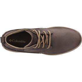 Columbia Davenport Chukka Shoes Men WP Leather cordovan / prairie sand